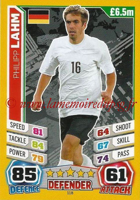 Topps Match Attax England 2014 - N° 118 - Philipp LAHM (Allemagne)