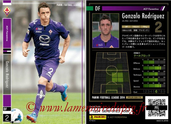 Panini Football League 2014 - PFL08 - N° 028 - Gonzalo RODRIGUEZ (Fiorentina)