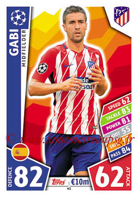 2017-18 - Topps UEFA Champions League Match Attax - N° 045 - GABI (Club Atletico de Madrid)