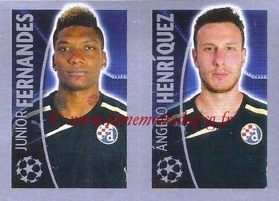 2015-16 - Topps UEFA Champions League Stickers - N° 436 - Junior FERNANDES + Angelo HENRIQUEZ (GNK Dinamo Zagreb)