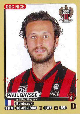 2015-16 - Panini Ligue 1 Stickers - N° 316 - Paul BAYSSE (OGC Nice)