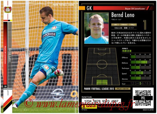Panini Football League 2013 - PFL01 - N° 144 - Bernd Leno ( Bayer 04 Leverkusen )