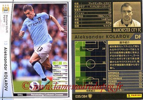 2012-13 - WCCF - N° 035 - Aleksandar KOLAROV (Manchester City FC)