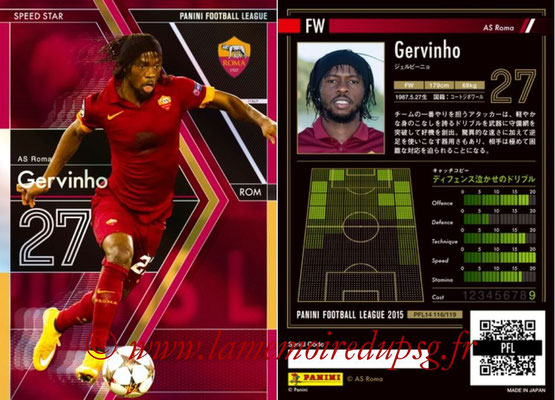 Panini Football League 2015 - PFL14 - N° 116 - GERVINHO (AS Roma) (Speed Star)