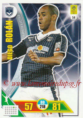 2017-18 - Panini Adrenalyn XL Ligue 1 - N° 054 - Diego ROLAN (Bordeaux)