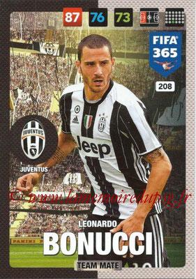 2016-17 - Panini Adrenalyn XL FIFA 365 - N° 208 - Leonardo BONUCCI (Juventus FC)