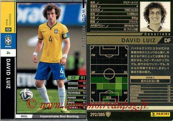 N° 292 - David LUIZ (2013-14, Bresil > 2014-??, PSG)