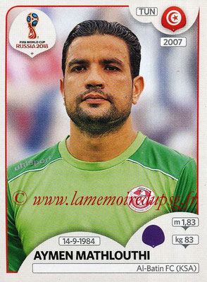 2018 - Panini FIFA World Cup Russia Stickers - N° 554 - Aymen MATHLOUTHI (Tunisie)