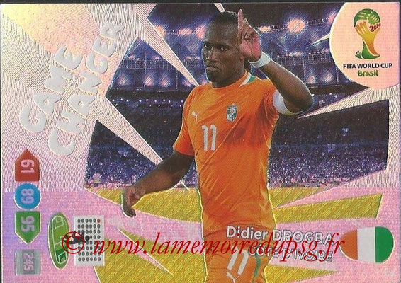 2014 - Panini FIFA World Cup Brazil Adrenalyn XL - N° 394 - Didier DROGBA (Côte d'ivoire) (Game Changer)