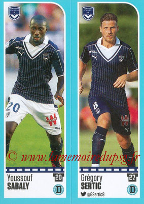 2016-17 - Panini Ligue 1 Stickers - N° 094 + 095 - Youssouf SABALY + Grégory SERTIC (Bordeaux)