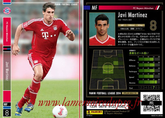 Panini Football League 2014 - PFL08 - N° 085 - Javi MARTINEZ (Bayern Munich)