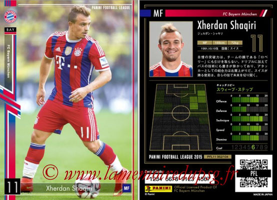 Panini Football League 2015 - PFL11 - N° 062 - Xherdan SHAQIRI (Bayern Munich)