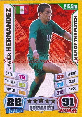 Topps Match Attax England 2014 - N° 259 - Javier HERNANDEZ (Mexique) (Man Of The Match)