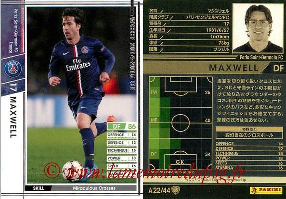 2013-14 - WCCF - N° A22 - MAXWELL (Paris Saint-Germain)