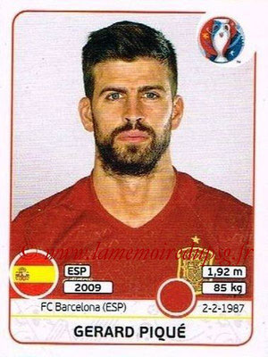 Panini Euro 2016 Stickers - N° 356 - Gerard PIQUÉ (Espagne)