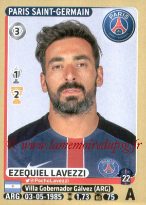 2015-16 - Panini Ligue 1 Stickers - N° 359 - Ezequiel LAVEZZI (Paris Saint-Germain)