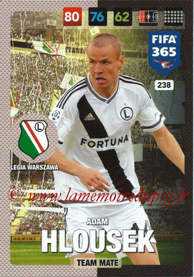 2016-17 - Panini Adrenalyn XL FIFA 365 - N° 238 - Adam HLOUSEK (Legia Varsovie)