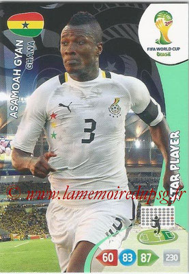 2014 - Panini FIFA World Cup Brazil Adrenalyn XL - N° 176 - Asamoah GYAN (Ghana) (Star Player)