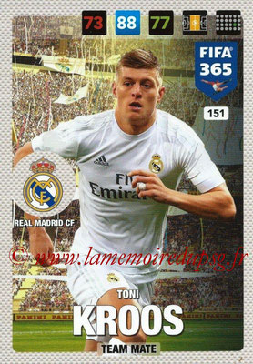 2016-17 - Panini Adrenalyn XL FIFA 365 - N° 151 - Toni KROOS (Real Madrid CF)