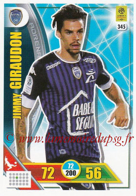 2017-18 - Panini Adrenalyn XL Ligue 1 - N° 345 - Jimmy GIRAUDON (Troyes)