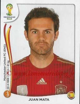 2014 - Panini FIFA World Cup Brazil Stickers - N° 123 - Juan MATA (Espagne)