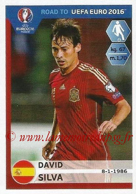Panini Road to Euro 2016 Stickers - N° 093 - David SILVA (Espagne)