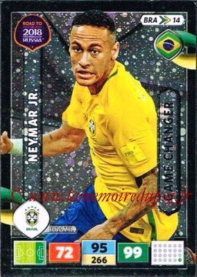 2018 - Panini Road to FIFA World Cup Russia Adrenalyn XL - N° BRA14 - NEYMAR Jr. (Brésil) (Game Changer)