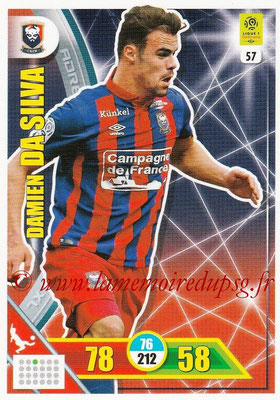 2017-18 - Panini Adrenalyn XL Ligue 1 - N° 057 - Damien DA SILVA (Caen)