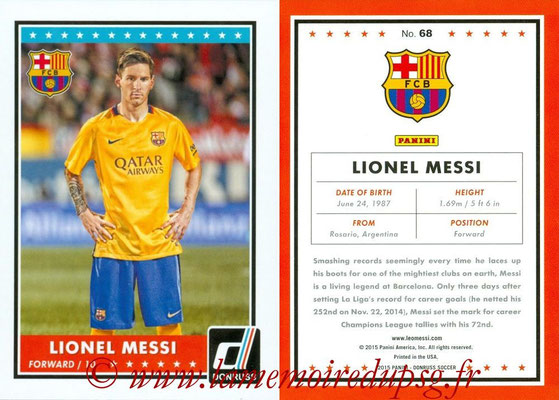 2015 - Panini Donruss Soccer - N° 068 - Lionel MESSI (FC Barcelone)