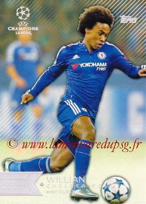 2015-16 - Topps UEFA Champions League Showcase Soccer - N° 160 - WILLIAN (Chelsea FC)
