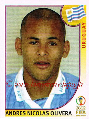 2002 - Panini FIFA World Cup Stickers - N° 073 - Andres Nicolas OLIVERA (Uruguay)