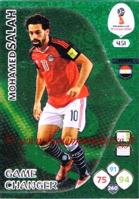 2018 - Panini FIFA World Cup Russia Adrenalyn XL - N° 451 - Mohamed SALAH (Egypte) (Game Changer)