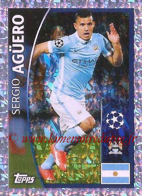 2015-16 - Topps UEFA Champions League Stickers - N° 226 - Sergio AGUERO (Manchester City FC)