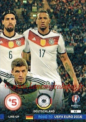 Panini Road to Euro 2016 Cards - N° 063 - Equipe Allemagne 3