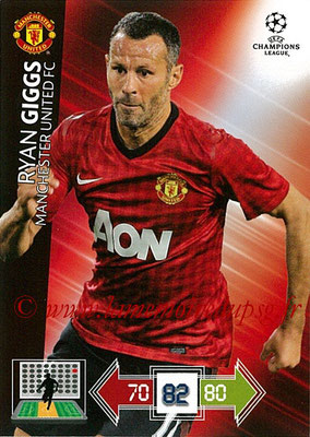 2012-13 - Adrenalyn XL champions League N° 142 - Ryan GIGGS (Manchester United FC)