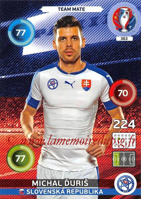 Panini Euro 2016 Cards - N° 363 - Michal DURIS (Slovenie)