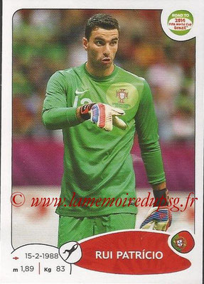 2014 - Panini Road to FIFA World Cup Brazil Stickers - N° 313 - Rui PATRICIO (Portugal)