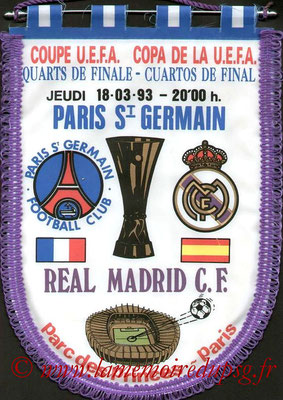 Grands Fanions  PSG-Real Madrid  1992-93