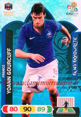 Panini Euro 2012 Cards Adrenalyn XL - N° 254 - Yoann GOURCUFF (France) (Fans' Favourite)