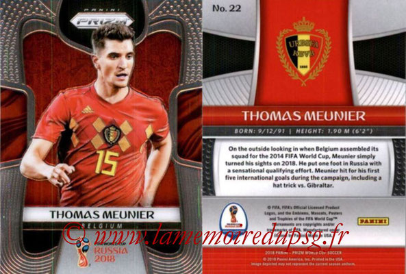 2018 - Panini Prizm FIFA World Cup Russia - N° 022 - Thomas MEUNIER (Belgique)