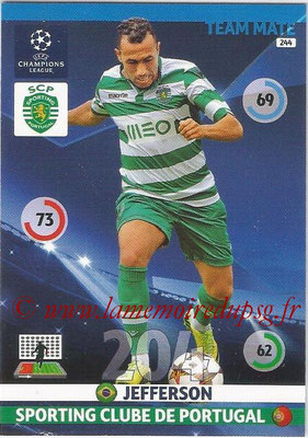 2014-15 - Adrenalyn XL champions League N° 244 - JEFFERSON (Sporting Club de Portugal)