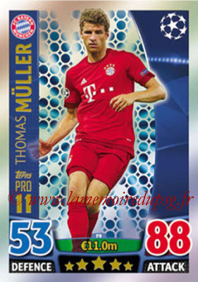 2015-16 - Topps UEFA Champions League Match Attax - N° P08 - Thomas MÜLLER (FC Bayern Munich) (Pro 11)