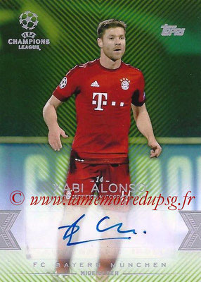2015-16 - Topps UEFA Champions League Showcase Soccer - N° CLA-XA - Xabi ALONSO (FC Bayern Munich) (Base Autographs Cards)