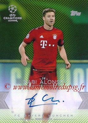 2015-16 - Topps UEFA Champions League Showcase Soccer - N° CLA-XA - Xabi ALONSO (FC Bayern Munich) (Base Autographs Cards)