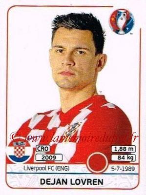 Panini Euro 2016 Stickers - N° 441 - Dejan LOVREN (Croatie)