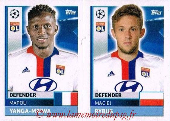 2016-17 - Topps UEFA Champions League Stickers - N° LYO 8-9 - Marciej RYBUS + Mapou YANGA-MBIWA (Olympique Lyonnais)