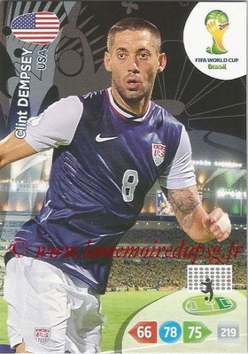2014 - Panini FIFA World Cup Brazil Adrenalyn XL - N° 323 - Clint DEMPSEY (Etats-Unis)