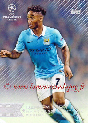 2015-16 - Topps UEFA Champions League Showcase Soccer - N° 091 - Raheem STERLING (Manchester City FC)