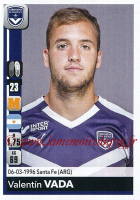 2018-19 - Panini Ligue 1 Stickers - N° 065 - Valentin VADA (Bordeaux)