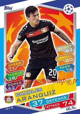 2016-17 - Topps UEFA Champions League Match Attax - N° LEV8 - Charles ARANGUIZ (Bayer 04 Leverkusen)